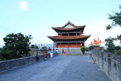 The wall of Dali old city. City gate tower in Dali ancient city ,Dali Old City located in Yunnan Province china.The picture is the south gate of Dali old city Stock Images