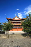 The wall of Dali old city. City gate tower in Dali ancient city ,Dali Old City located in Yunnan Province china.The picture is the south gate of Dali old city Stock Photo