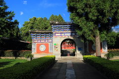 The wall of Dali old city. City gate tower in Dali ancient city ,Dali Old City located in Yunnan Province china.The picture is the south gate of Dali old city Royalty Free Stock Images