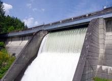 The wall of the dam Capilano, Vancouver, Canada Stock Photography