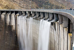Wall of the dam Royalty Free Stock Photo