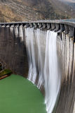 Wall of the dam Stock Image