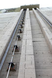 Wall of dam and pushrod for open and close water gateway Stock Photo