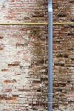 Wall damaged by a defect gutter Royalty Free Stock Photography