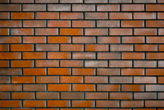 Wall of Dark Red Brick Royalty Free Stock Photos
