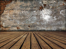 Wall in dark room Royalty Free Stock Photo