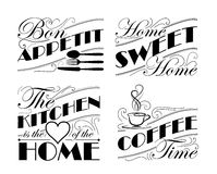 Wall decal set Stock Photography