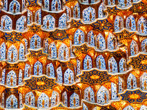 Wall decor in Samarkand. Royalty Free Stock Images