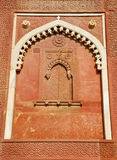 Wall decorate in Agra fort Royalty Free Stock Photography