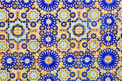 Wall decorated with mosaics in Marrakech Royalty Free Stock Image
