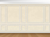 Wall decorated panel mouldings in classic style Stock Images