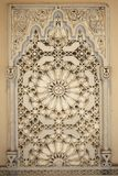 Wall decoration. Middle Eastern ornate stone carving decoration royalty free stock photo