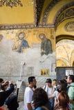 Wall decoration of ancient basilica Hagia Sophia royalty free stock photo