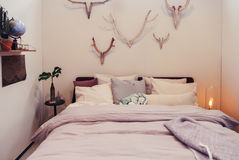 Wall decoration in bedroom Royalty Free Stock Photography