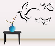 Wall decoration with birds Royalty Free Stock Photo