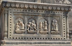 Wall Decoration Maheshwar Temple Stock Photos