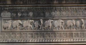 Wall Decoration on Historic Maheshwar India Royalty Free Stock Photography