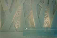 Wall decoration in Ice Hotel Royalty Free Stock Photography
