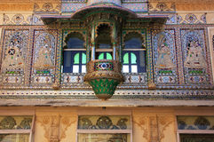 Wall decoration of Peacock Square, City Palace complex, Udaipur, Royalty Free Stock Images