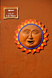 Wall Decoration Sun, Mexico Stock Photography