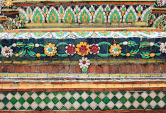 Wall decoration in Thailand Royalty Free Stock Images