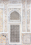 Wall decoration at the Tomb of I timad ud Daulah in Agra, Uttar Royalty Free Stock Image
