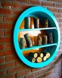 The Wall Decoration. Wall, wood, shelf Stock Photo