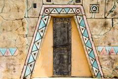 Wall decorations with ancient Incas stock images