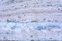 Wall with decorative cladding - travertine 5 Royalty Free Stock Image