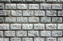 Wall with decorative gray brick styled closeup Royalty Free Stock Image