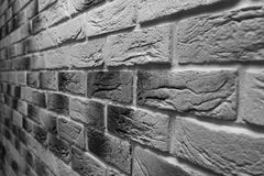 Modern briwall with decorative light brick. repair and construction.ck wall monochrome photo. Wall with decorative light brick royalty free stock images