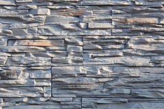 Wall of decorative stone in gray Royalty Free Stock Photo
