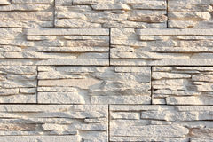 Wall of decorative stone sand color Royalty Free Stock Photos