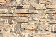 Wall of decorative stone sand color Royalty Free Stock Photography