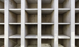 Wall departments. Detail of empty tombs in a cemetery Stock Images