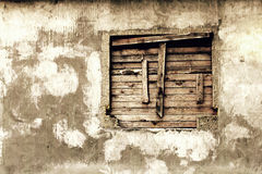 Wall of a deserted house Royalty Free Stock Photos