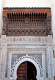 Wall detail. Old mosque wall detail - Ceramic craft from Fes (Fez) Morocco royalty free stock photography