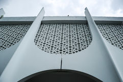Wall detail at Perak State Mosque in Ipoh, Perak, Malaysia Royalty Free Stock Photos