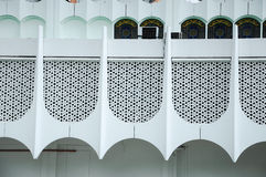 Wall detail at Perak State Mosque in Ipoh, Perak, Malaysia Royalty Free Stock Images