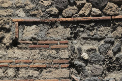 Wall detail at Pompeii, Italy Royalty Free Stock Photography