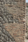 Wall detail at Pompeii, Italy Royalty Free Stock Images