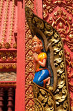 Wall detail of temple in Cambodia Stock Photography