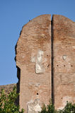 Wall detail at Terme di Caracalla Royalty Free Stock Images