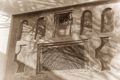 Wall detail on traditional arabian house Stock Photos