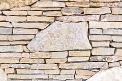 Wall from different stones Royalty Free Stock Photography