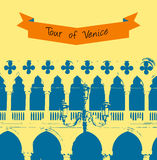 The wall of the Doge's Palace in Venice,  illustration Royalty Free Stock Photos