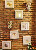Wall. Doll picture decorate home Royalty Free Stock Image