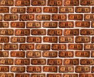 Wall with dollar Royalty Free Stock Image