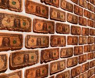 Wall with dollar Stock Image