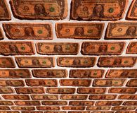 Wall with dollar Stock Photos